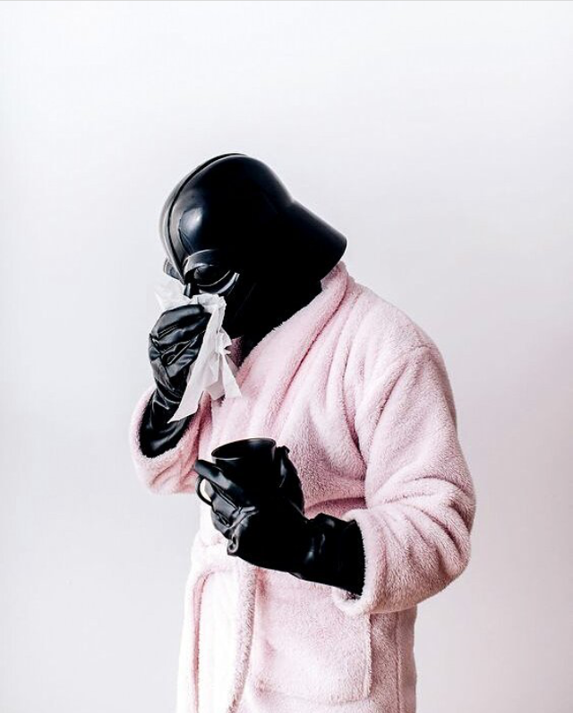 When you're down with the flu, and sound like Darth Wader